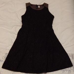 Old Navy Black Tweed A Line Dress Small
